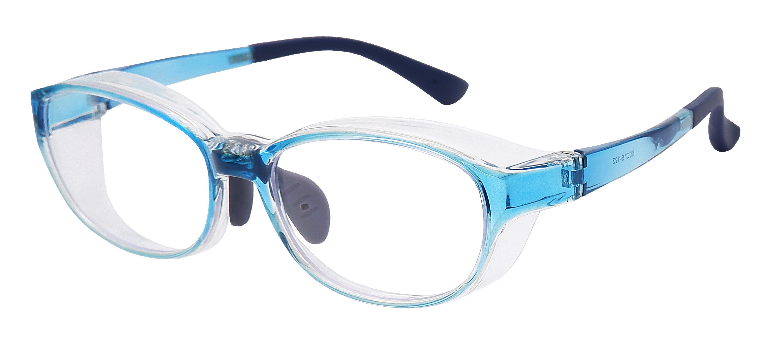 飛沫対策メガネ 花粉グラス 安い パリミキ KF-015 サイド