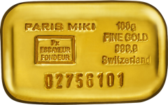 PARIS MIKI GOLD BAR 100g