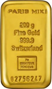 PARIS MIKI GOLD BAR 200g